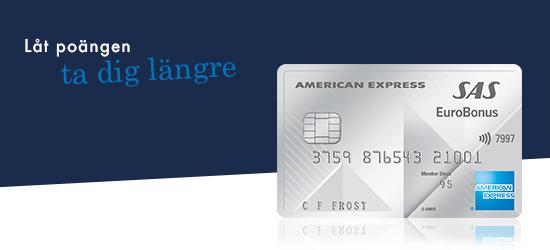 Kreditkort från American Express kan göra det enklare för dig att samla poäng.