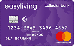 collector bank easyliving resekort